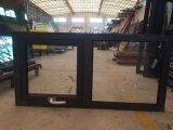 Ventana de aluminio del marco con las persianas