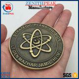 China Fornecedor Metal Cor antigo 3D Mountain Coin Loja