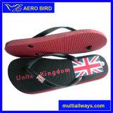 Тапочка обуви PE Flops Flip Personlized печати флага Braizl (003-BLACK)