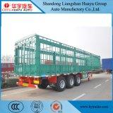 3貨物家畜の輸送のための半車軸40tペイロードの棒のトレーラー