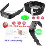 Pulseira impermeável bracelete de Relógio inteligente com o Monitor de Ritmo Cardíaco K18