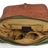 100%年の綿のキャンバスのメッセンジャーの人の肩のラップトップの学生かばん袋(RS -6001P)