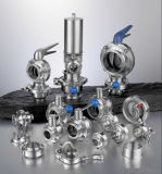 Санитарные двухстворчатый клапан быстро Установить двухстворчатый клапан поставщика