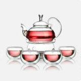 De mooie Pot van het Glas van het Keukengerei van het Theestel van het Glas van het Ontwerp met Filter