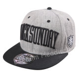 Caldeira Wool Blend Grey Melange Snapback Flat Brim Fiftting Cap