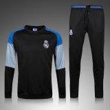 ブルーグレーの黒のウォーミングアップのための長い袖の換気の湿気のWickingのスポーツ・ウェア
