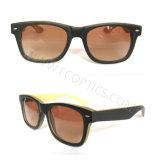 Óculos de sol de madeira das mulheres clássicas do homem