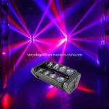 vierling 8*10W RGBW in 1 LEIDENE Straal die van de Spin het HoofdLicht van DJ van de Staaf Amerikaanse beweegt