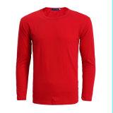 주문을 받아서 만들어진 로고 기초 편리한 기본적인 셔츠 남자 긴 소매 t-셔츠