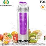 750 мл индивидуальные тритан бутылка воды с фруктами, пластмассовых Infuser фрукты вливания воды (ПВР-0601)