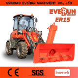 Everun Brand 세륨 EPA Approved Er15 1.5ton 다중 Function Wheel Loader Farm Machinery Shovel Loader