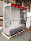Congelador de refrigerador abierto de la visualización del enchufe comercial de Multideck