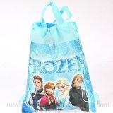 Malote não tecido congelado desenhos animados do Drawstring, saco de Drawstring para crianças