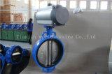 Tipo atuado pneumático válvula da bolacha de borboleta com ISO Wras do Ce aprovado