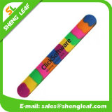 Verschiedene Größen/Farben-umweltfreundliche Süßigkeit-Farben-Silikon-Klaps-Armbänder