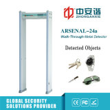 puerta comercial del detector de metales del edificio de 6 de /18 zonas de la alarma