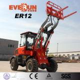 Er12 двигателя Rueoiii колесный погрузчик с быстроразъемной навески для продажи