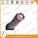 600/1000V aluminio/cobre conductores PE/funda de PVC aislante XLPE Cable concéntrico
