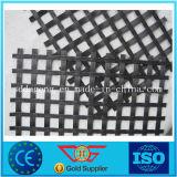 De pvc Met een laag bedekte Afwijking breide Geweven Tweeassige Polyester Geogrid