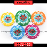760 PCS texas holdem Style /Clay Sticker Poker Chip Set para jogo de azar (YM-MGBG001)