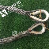 指ぬきが付いている鋼線ロープの吊り鎖