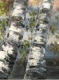Olio pesante delle pitture a olio della lama di paesaggio dell'albero ed effetto strutturale
