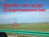 Megatro 110kv 1A2-Zm3 Tangent Sc Tower Transmission