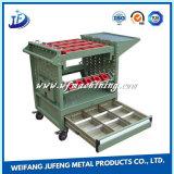 Cabina de herramienta de poca potencia con los cajones y las ruedas de aluminio