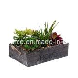 Décor en bois rustique Accueil Planter Box avec poignées de corde