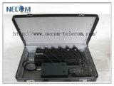 2g 3G 4G 셀룰라 전화 +VHF/uhf 라디오 Portable 6 악대 신호 방해기, 건전지를 가진 직업적인 고품질 세포 방해기 전화
