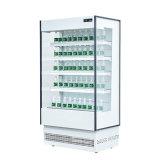 Un supermarché ouvert/boissons du refroidisseur d'affichage vitrine réfrigérée