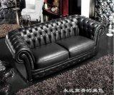 Modernes europäisches Wohnzimmer-Leder-Chesterfield-Sofa