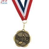 Personalizar el chapado de Antigüedades de alta calidad de la nota musical de la medalla de metal