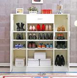 白い大きい容量の木の靴のキャビネット