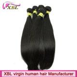 Человеческие волосы прямой девственницы Unprocessed бразильские