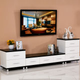 山東の工場カスタマイズ可能で白い木TVのキャビネット