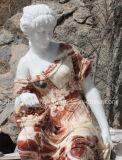 Beeldhouwwerk van de Standbeelden van de Decoratie van de steen het Snijdende Veelkleurige Marmeren