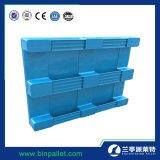 1200X1000 3 미끄럼 음식 급료 Rackable 플라스틱 깔판은 제조한다