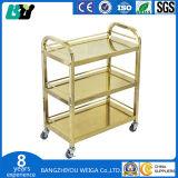 三層のステンレス鋼の食堂車