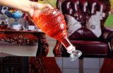 Bottiglia di vino di vetro di figura unica poco costosa all'ingrosso