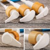 Bomba plástica da loção do frasco do champô da alta qualidade com tampão de bambu