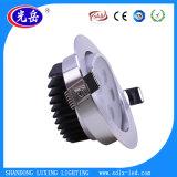 Fabricado en China a bajo precio 2700K-7500K IP44 3W de iluminación de techo LED de lujo con 2 años de garantía