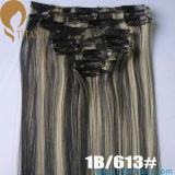 1B/613# Indian Remy Clip em pedaços de cabelo humano