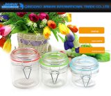 mini vidro 100ml redondo que preserva frascos com fechamento do grampo