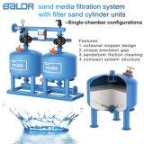 유일한 물 디스트리뷰터와 물 수집가 또는 물 여과를 가진 자동 모래 매체 여과 시스템 기계