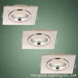 Закрутка Lock Ring Adjustable Aluminum 3W 5W СИД Spotlight Square СИД Recessed Downlight