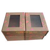 Eleganter Kunstdruckpapier-verpackengeschenk-Kasten mit Fenster