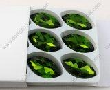 De Elementen van Sw van de Kleding van het huwelijk 17X32mm Smaragdgroene Steen van het Kristal Navette