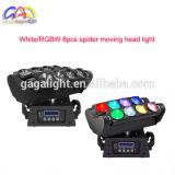 Heiße Produkte, zum von 8 weißes Armkreuz-beweglichen Kopf DJ-Beleuchtung-Stadiums-Lichtern PCS-LED online zu verkaufen