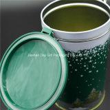 Caja redonda de la lata de té / café con el diseño de la Navidad (D001-V1)